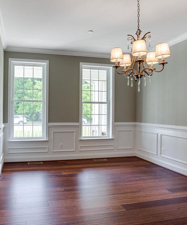 Custom built formal dining room